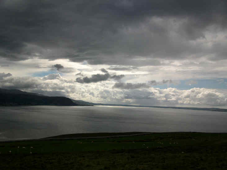view from great orme, llandudno, north wales