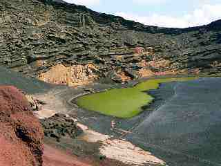 Green Lake, Lanzarote, Canary Islands. The water is rich in rare earth metals and similar to the water at the Mojave Desert mine (which I don't have pictures of)